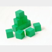 Ten 1-blocks (green)